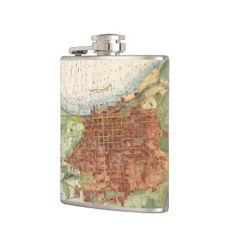 Vintage Map of Burlington Vermont (1872) Flask