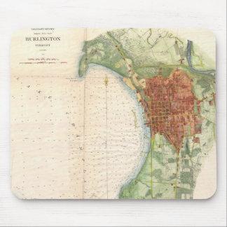 Vintage Map of Burlington Vermont (1872) Mouse Pad