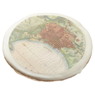 Vintage Map of Burlington Vermont (1872) Sugar Cookie