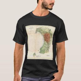 Vintage Map of Burlington Vermont (1872) T-Shirt