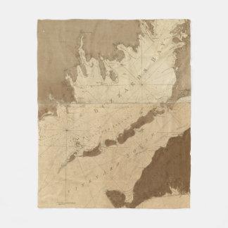 Vintage Map of Buzzards Bay (1776) Fleece Blanket