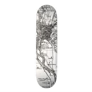 Vintage Map of Cairo Egypt (1911) Skateboards