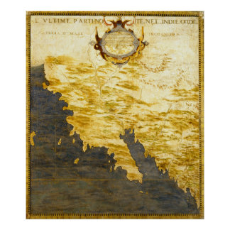 Vintage Map of California (1564) Poster