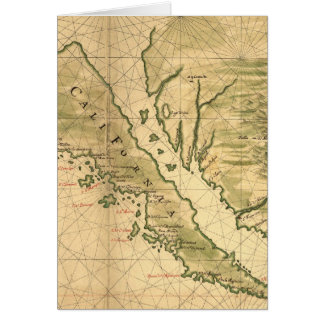 Vintage Map of California (1650) Card