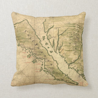 Vintage Map of California (1650) Pillow