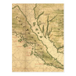 Vintage Map of California (1650) Post Cards