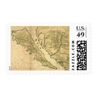 Vintage Map of California (1650) Stamp