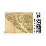 Vintage Map of California (1650) Stamp