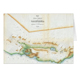 Vintage Map of California (1854) Card