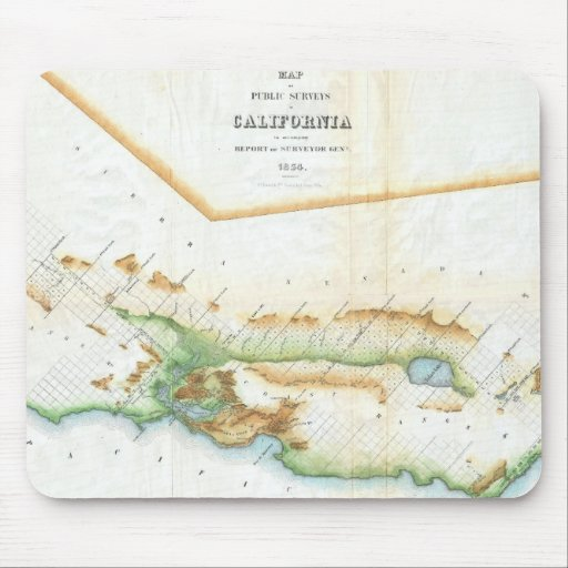 Vintage Map of California (1854) Mouse Pad