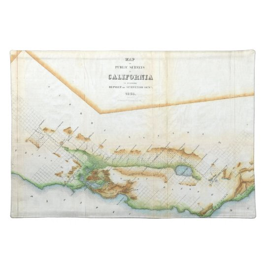 Vintage Map of California (1854) Placemat