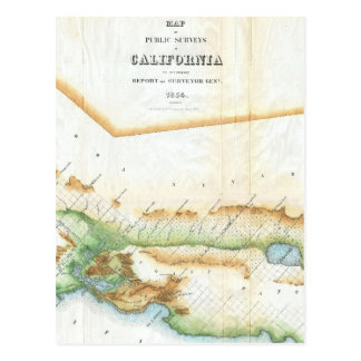 Vintage Map of California (1854) Postcard