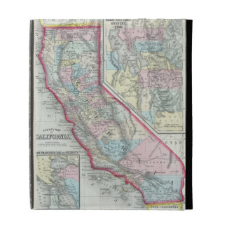 Vintage Map of California (1860) iPad Cases