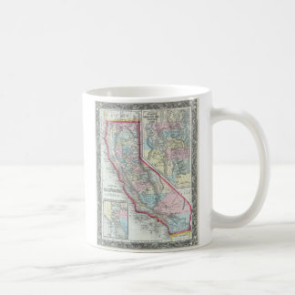 Vintage Map of California (1860) Coffee Mug
