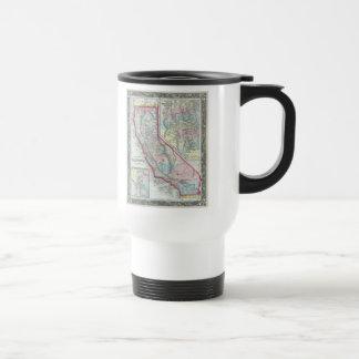 Vintage Map of California (1860) 15 Oz Stainless Steel Travel Mug