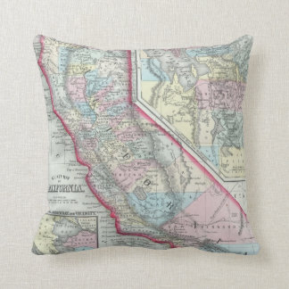 Vintage Map of California (1860) Pillow