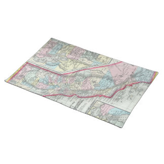 Vintage Map of California (1860) Placemat