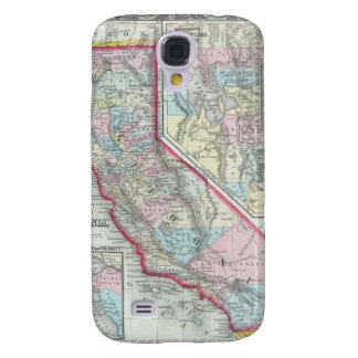 Vintage Map of California (1860) Samsung Galaxy S4 Cover