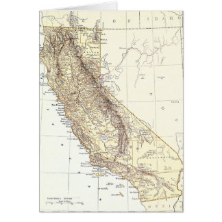 Vintage Map of California (1878) Card