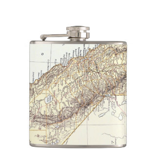 Vintage Map of California (1878) Flask