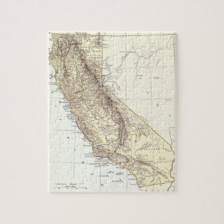 Vintage Map of California (1878) Jigsaw Puzzle