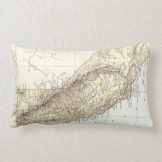 Vintage Map of California (1878) Lumbar Pillow
