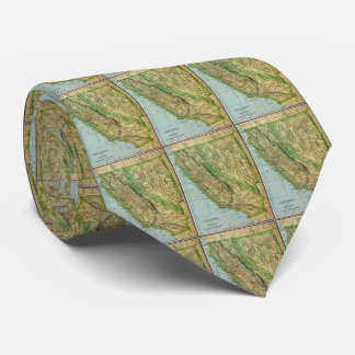 Vintage Map of California and Nevada (1905) Tie