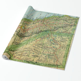 Vintage Map of California and Nevada (1905) Wrapping Paper
