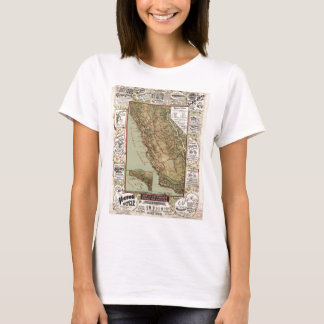 Vintage Map of California Roads T-Shirt
