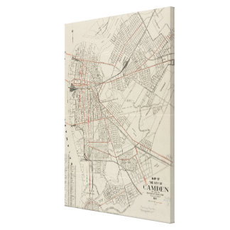 Vintage Map of Camden NJ (1921) Canvas Print