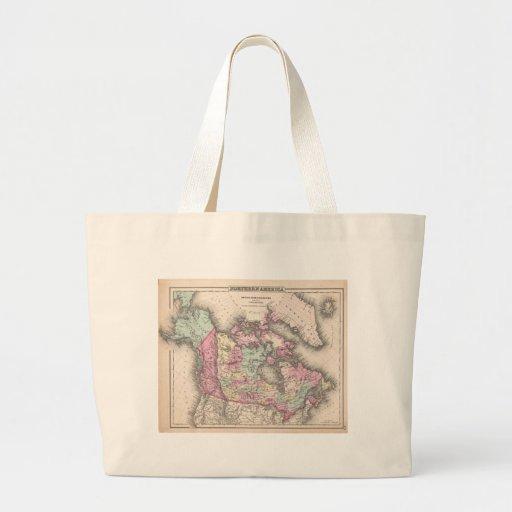 Vintage Map of Canada (1857) Canvas Bag