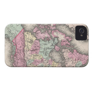 Vintage Map of Canada (1857) iPhone 4 Case
