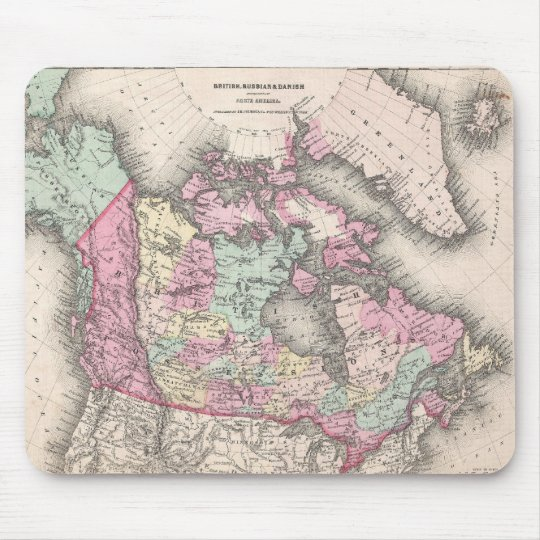 Vintage Map of Canada (1857) Mouse Pad