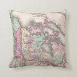 Vintage Map of Canada (1857) Pillow