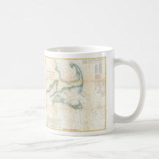 Vintage Map of Cape Cod (1857) Coffee Mug