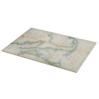Vintage Map of Cape Cod (1857) Cutting Board