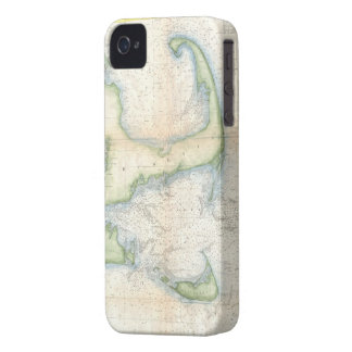 Vintage Map of Cape Cod (1857) iPhone 4 Case-Mate Case