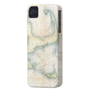 Vintage Map of Cape Cod (1857) iPhone 4 Case-Mate Case