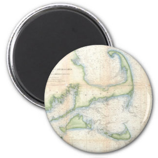 Vintage Map of Cape Cod (1857) 2 Inch Round Magnet