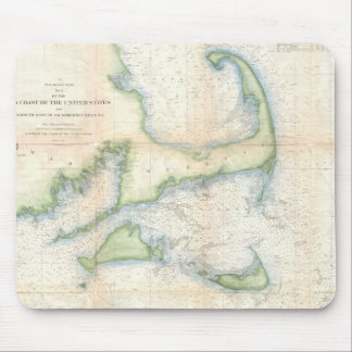 Vintage Map of Cape Cod (1857) Mouse Pad