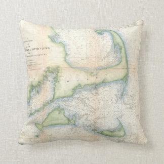 Vintage Map of Cape Cod (1857) Pillow