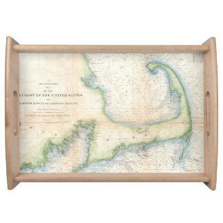 Vintage Map of Cape Cod (1857) Serving Tray