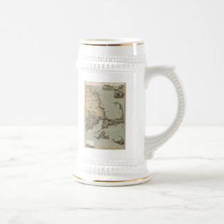 Vintage Map of Cape Cod (1885) Beer Stein