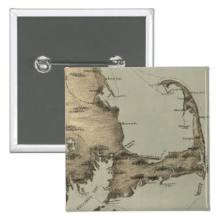 Vintage Map of Cape Cod 1885 Pinback Buttons
