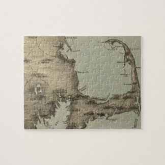 Vintage Map of Cape Cod (1885) Jigsaw Puzzle