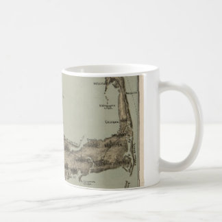 Vintage Map of Cape Cod (1885) Coffee Mug