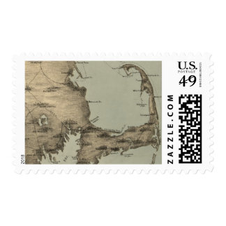 Vintage Map of Cape Cod (1885) Postage