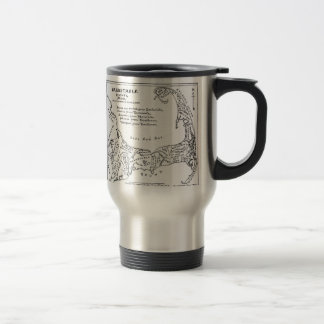 Vintage Map of Cape Cod (1890) 15 Oz Stainless Steel Travel Mug