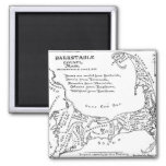 Vintage Map of Cape Cod (1890) 2 Inch Square Magnet