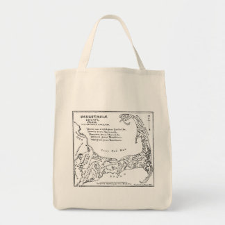 Vintage Map of Cape Cod (1890) Bags